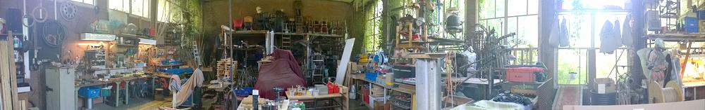 panorama afbeelding van werkplaats